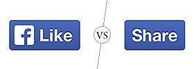 Like Button vs Share Button on Facebook