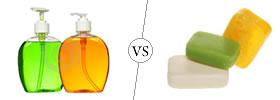 Liquid Soap vs Bar Soap