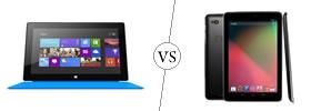 Microsoft Surface RT vs Nexus 10