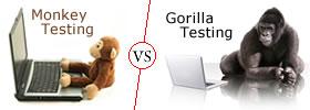Monkey Testing vs Gorilla Testing