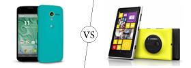 Moto X vs Lumia 1020