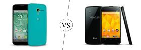 Moto X vs Nexus 4