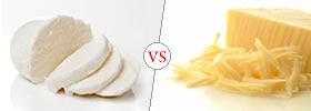 Difference between Mozzarella Cheese and Cheddar Cheese