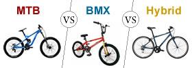 MTB vs BMX vs Hybrid Cycle