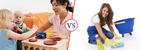 Difference between Nanny and Maid