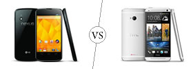Nexus 4 vs HTC One