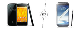 Nexus 4 vs Galaxy Note II