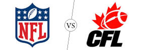 Difference between NFL and CFL