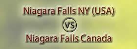 Niagara Falls NY (USA) vs Niagara Falls Canada