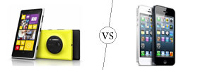 Nokia Lumia 1020 vs iPhone 5