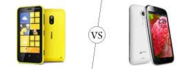 Nokia Lumia 620 vs Micromax A116 Canvas HD