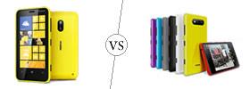 Nokia Lumia 620 vs Nokia Lumia 820