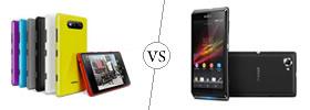 Nokia Lumia 820 vs Sony Xperia L