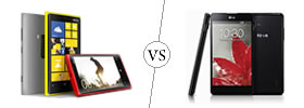 Nokia Lumia 920 vs LG Optimus G
