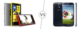 Nokia Lumia 920 vs Samsung Galaxy S4