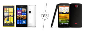 Nokia Lumia 925 vs HTC One X+