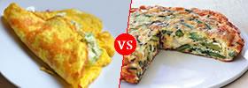 Omelets vs Frittatas
