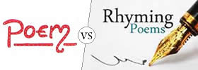 Difference between Poem and Rhyme
