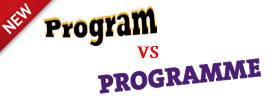 Program vs Programme