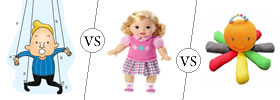 Difference between Puppet, Doll and Toy