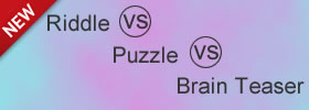 Riddle vs Puzzle vs Brain Teaser