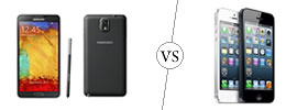 Samsung Galaxy Note 3 vs iPhone 5
