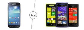 Samsung Galaxy S4 Mini vs HTC Windows 8X