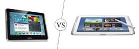 Samsung Galaxy Tab 2 10.1 vs Galaxy Note 10.1