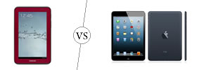 Samsung Galaxy Tab 2 7.0 vs iPad Mini