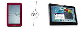 Samsung Galaxy Tab 2 7.0 vs Samsung Galaxy Tab 2 10.1
