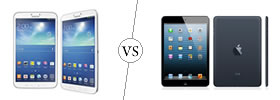 Samsung Galaxy Tab 3 8.0 vs iPad Mini