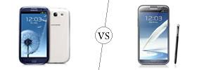 Samsung S3 vs Galaxy Note II