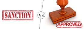 Sanction vs Approval