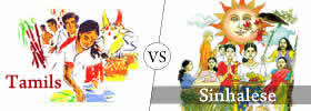Difference between Sinhalese and Tamils