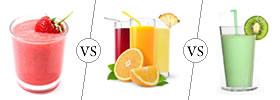 Smoothie vs Juice vs Shake