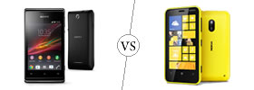 Sony Xperia E vs Nokia Lumia 620