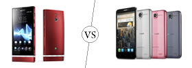 Sony Xperia P vs Alcatel One Touch Idol