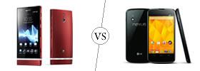 Sony Xperia P vs Nexus 4