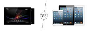 Sony Xperia Z Tab vs iPad
