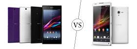 Sony Xperia Z Ultra vs Sony Xperia ZL