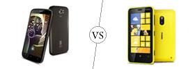 Spice Stellar Pinnacle Pro vs Nokia Lumia 620