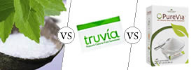 Difference between Stevia, Truvia and Purevia