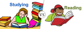 Difference between Studying and Reading