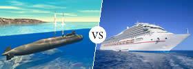 Submarine vs Ship