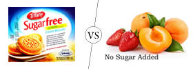 Sugar free vs No sugar added