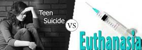 Suicide vs Euthanasia