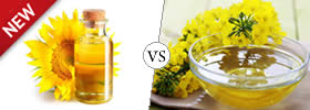 Difference between Sunflower Oil and Canola Oil