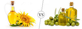 Difference between Sunflower Oil and Olive Oil