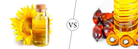 Difference between Sunflower Oil and Palm Oil