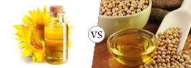 Difference between Sunflower Oil and Soybean Oil